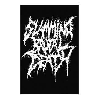 Slamming Brutal Death Metal Stationery