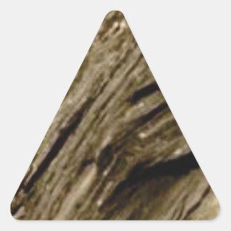slant shadow stone triangle sticker