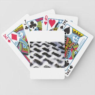 slanted bricks bicycle playing cards
