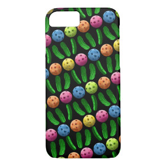 Slanted rows of Pickleballs and Green Pickles iPhone 8/7 Case