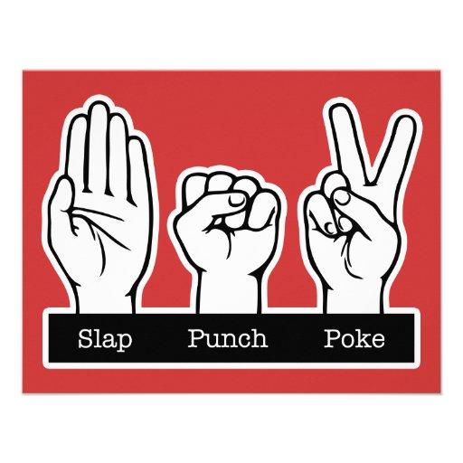 Slap, Punch, Poke Personalized Announcement
