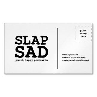 SlapSad magnetic business card