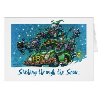 Slashing through the Snow Card