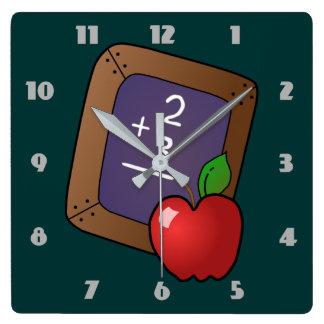 slate and apple clock
