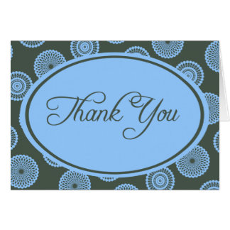 Slate and Blue Thank You Card