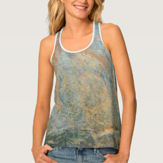 Slate and wood tank top