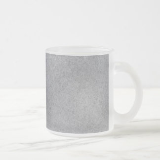 Slate background frosted glass coffee mug