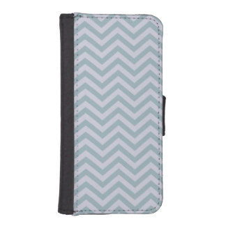 Slate Blue and Lavender Chevron iPhone 5 Wallet