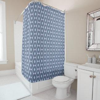 Slate blue circle mosaic tiles