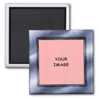 Slate Blue Photo Frame Magnet