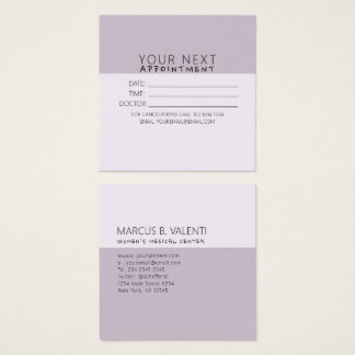 Slate Feminine Girly Trendy Minimalist Appointment Square Business Card