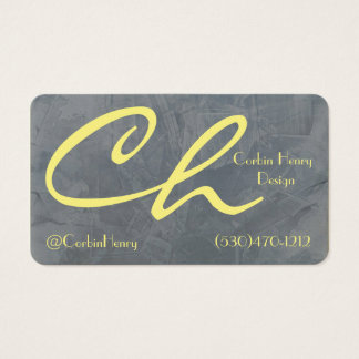 Slate Gray And Yellow Business Cards