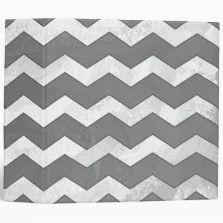 Slate Gray Chevron Pattern Vinyl Binder