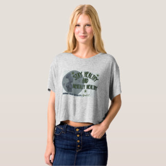 Slate green Stay healthy female tee