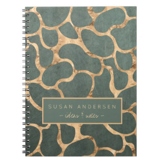 Slate grey rose gold stylish wallpaper pattern notebook
