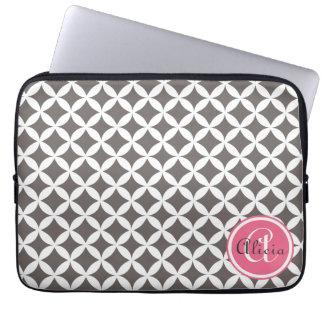 Slate Monogrammed Nico Print Laptop Sleeve