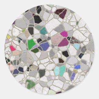 slate mosaic path classic round sticker