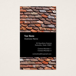 Slate Roof Tiler Slater Template Business Card