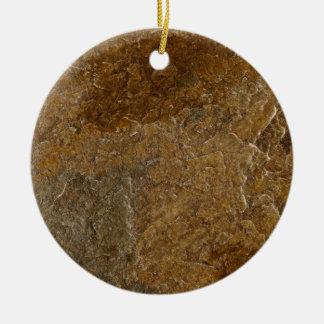 Slate Stone Background - Customized Template Blank Round Ceramic Ornament