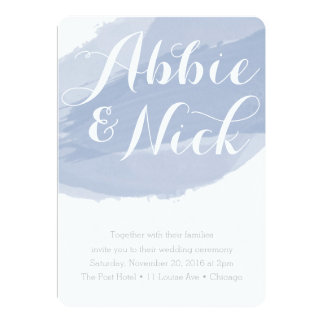 Slate Watercolor Wedding Invitation