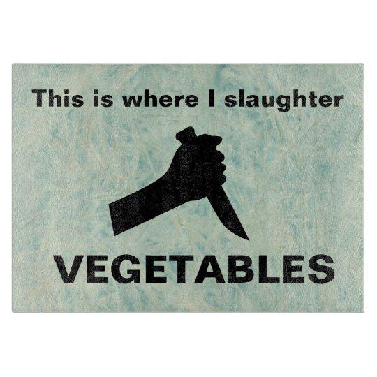 Slaughter vegetables boards