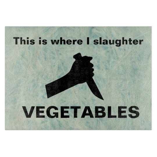 Slaughter vegetables cutting board