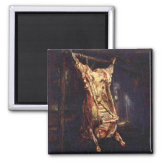 Slaughtered Oxen Square Magnet