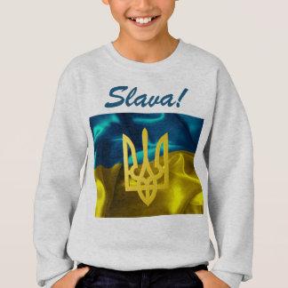 Slava! Ukraine Flag & Tryzub Kids Sweat Shirt