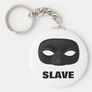 SLAVE MASK BASIC ROUND BUTTON KEYCHAIN
