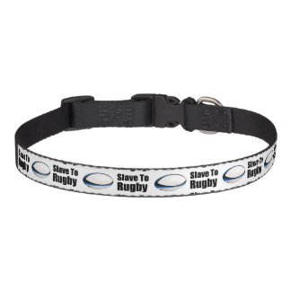 Slave To Rugby Dog Collar