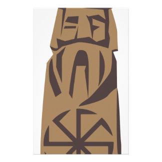 Slavic Pagan Warrior Stationery Paper