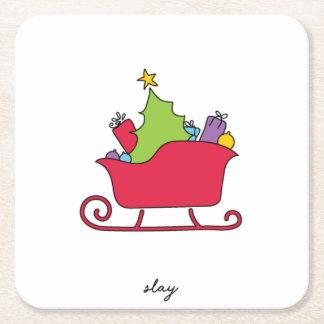 Slay Christmas Coasters