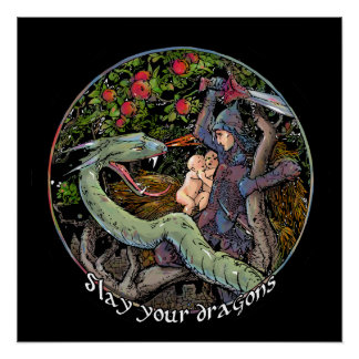 Slay your dragons, Gift for Jordan Peterson fans. Poster