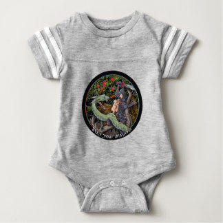 SLAY YOUR DRAGONS, Medieval art,Jordan Peterson Baby Bodysuit