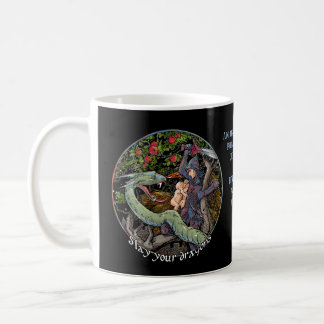 SLAY YOUR DRAGONS, Medieval art,Jordan Peterson Coffee Mug