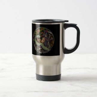 SLAY YOUR DRAGONS, Medieval art,Jordan Peterson Travel Mug