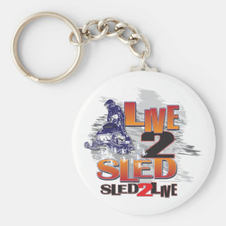 Sled 2 Live Live 2 Sled Basic Round Button Keychain