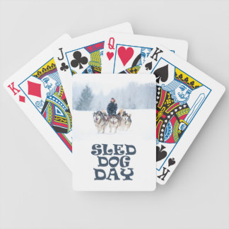 Sled Dog Day - Appreciation Day Bicycle Playing Cards
