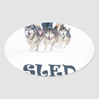 Sled Dog Day - Appreciation Day Oval Sticker