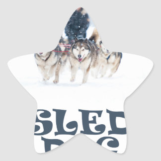 Sled Dog Day - Appreciation Day Star Sticker