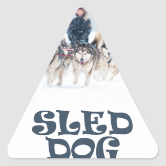 Sled Dog Day - Appreciation Day Triangle Sticker