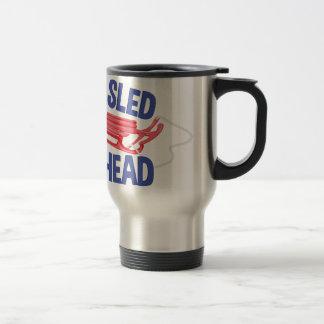 Sled Head Travel Mug