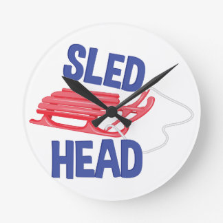 Sled Head Wall Clock
