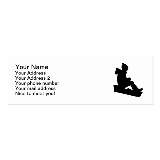 Sled Luge Business Card Templates
