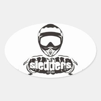 Sledders.com Oval Window Stickers