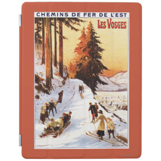 Sledding and Skiing at Vosges Poster iPad Cover