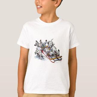 Sledding Dalmatian Pups T-Shirt