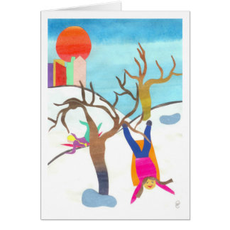 Sledding in Central Park Card