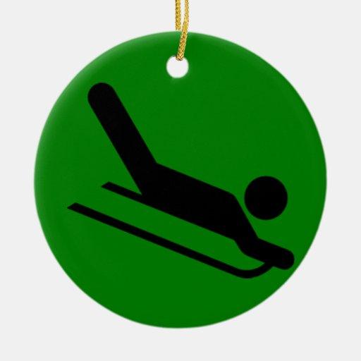 Sledding Christmas Ornaments
