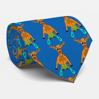 Sledging Reindeer Tie
